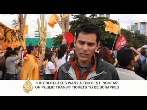 Protest rallies held in Brazil's main cities