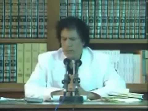 Al Gaddafi - Leader of the Revolution addresses the heads and members of judiciary organs..