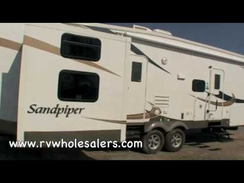 2010 Sandpiper 355QBQ Fifth Wheel RV Camper From RVWholesalers 024917 - Toffee