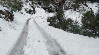 Off road snow ride with Mahindra above 1 feet (snow) (USA) upper ShimLa Area