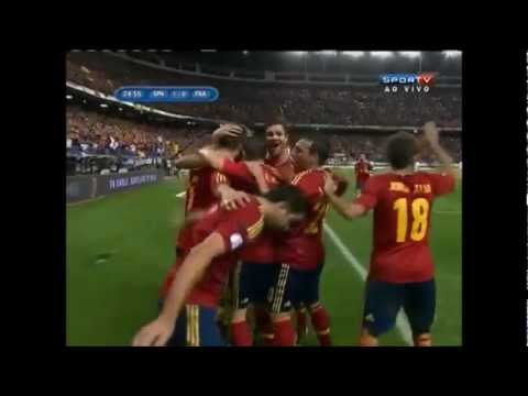 Spain vs France 1-1 GOAL SERGIO RAMOS WORLD CUP QUALIFICATION 2014 (16.10.2012)