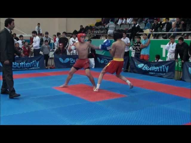 Khridoli fighter Zura Jojua(Georgia) against ushu fighter from Iran.Fight for gold medal