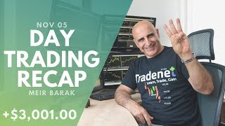 Day Trading Recap, Nov 05: I Earned +$3,000 Trading My Gap-And-Go Strategy!