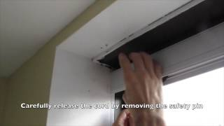Installing a motorized bottom-up shade by concordshading.com