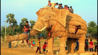 Can You Believe This Toy Elephant is Bigger Than Real Elephant? Bamboo Giant Elephant Toy Making