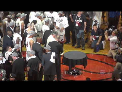Miami Heat 2013 Eastern Conference Champions Trophy Presentation