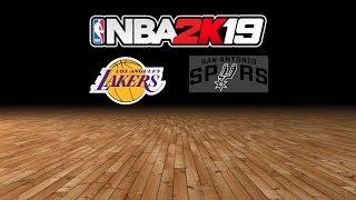 Lakers vs. Spurs - 10.27.18 - NBA 2K19 MyLeague