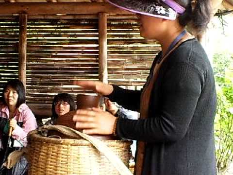 Guide performing Dae Jang Geum theme song at Jeju Folk Village...