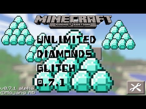 Minecraft Pocket Edition - Unlimited Diamonds Glitch 0.7.4 iPod/iPad/iPhone/iPad Mini
