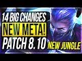 NEW META IS HERE?! 14 BIG CHANGES & NEW OP CHAMPS Patch 8.10 - League of Legends