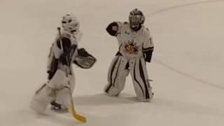 8 year old hockey goalie dances to Juju on that beat