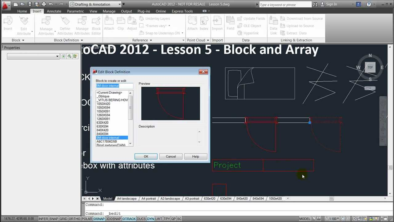 how to draw array in autocad 2012