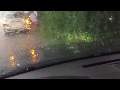Град летом потоп авто