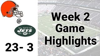 Monday Night Football week 2 Browns Jets Highlights