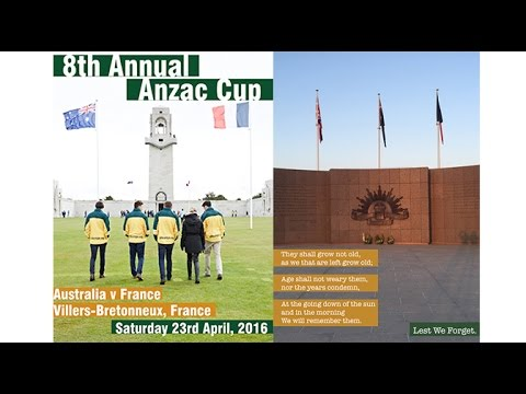 2016 AFL Europe ANZAC Day Women's Cup - Australia v France