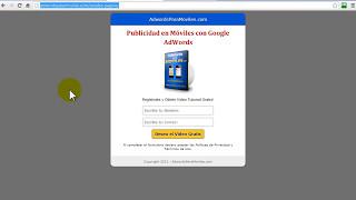 Cómo usar las Landing Page Creadas para AdWors pensando en Moviles - AdWords para Móviles