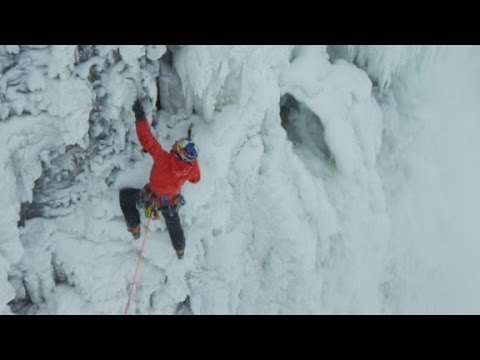 Frozen feat: Climber scales icy walls of Niagara Falls