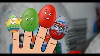 Surprise Eggs Finger Family Nursery Rhymes For Kids