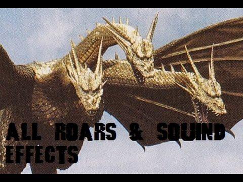 All King Ghidorah Roars & Sound Effects (1964-2001)
