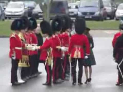 !st Battalion Irish Guards  St Patricks Day 2012 Mons Barracks Aldershot .wmv