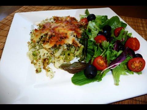 Brocoli y Coliflor horneados con Queso Parmesano