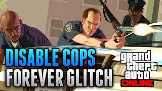 GTA 5 Glitches - Disable Cops Forever Glitch Online! - No Cops Glitch & No Fall Damage Glitch