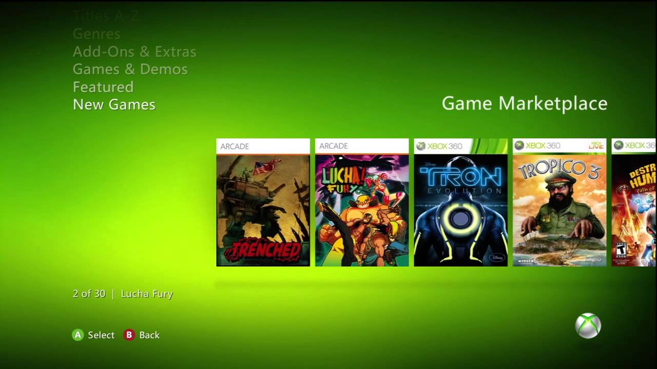 all free games for xbox 360 marketplace