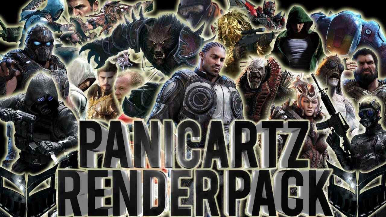 Comic Render Pack Character Renders Pack