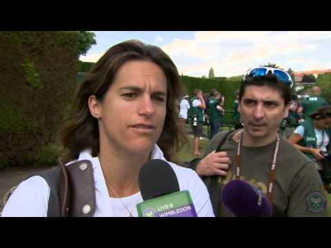 Amelie Mauresmo enjoying Murray challenge - Wimbledon 2014