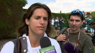 Amelie Mauresmo Live @ Wimbledon interview