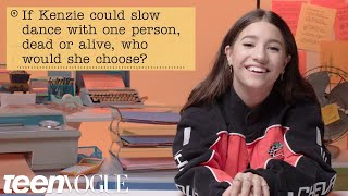 kenzie ziegler Guesses How 2,042 Fans Responded to a Survey About Her | Teen Vogue