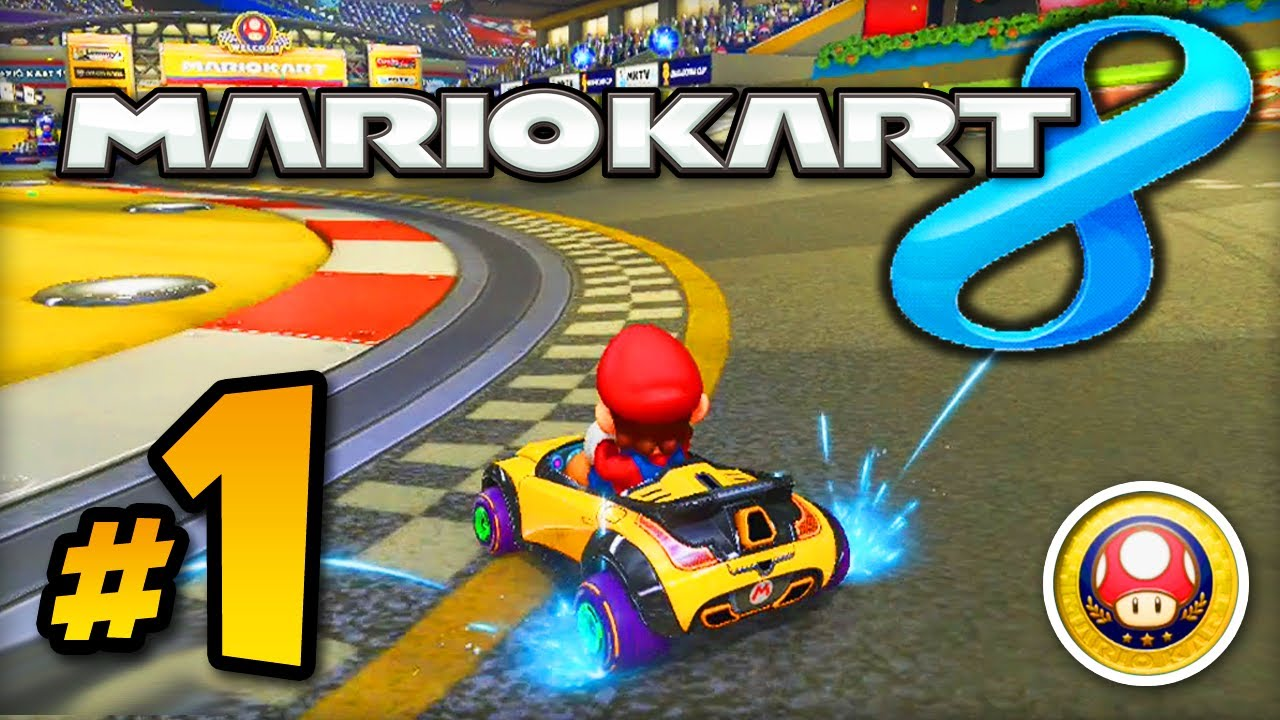 mario kart 8 gameplay part 1 w ali a mushroom cup. Black Bedroom Furniture Sets. Home Design Ideas