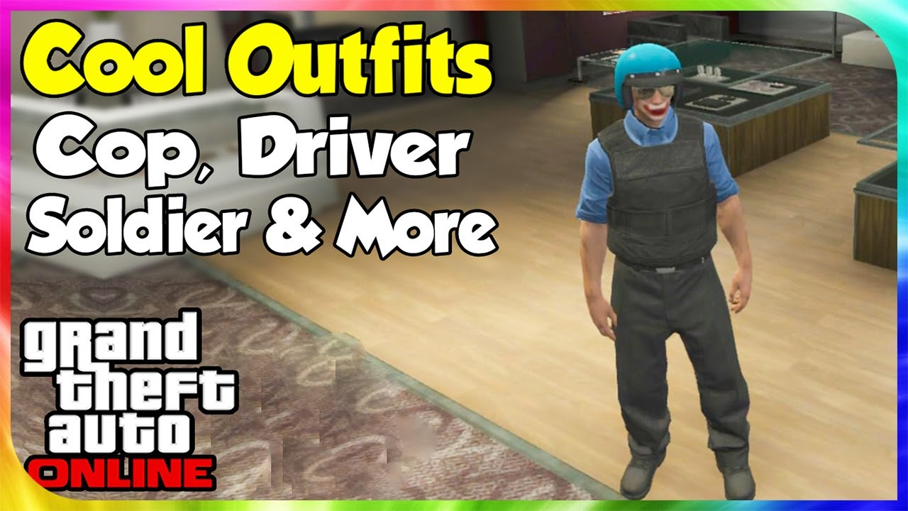 GTA 5 Online - Cool u0026 Awesome Outfits #1 (Cop Soldier Drake u0026 More) [GTA V Wardrobe Wednesday ...