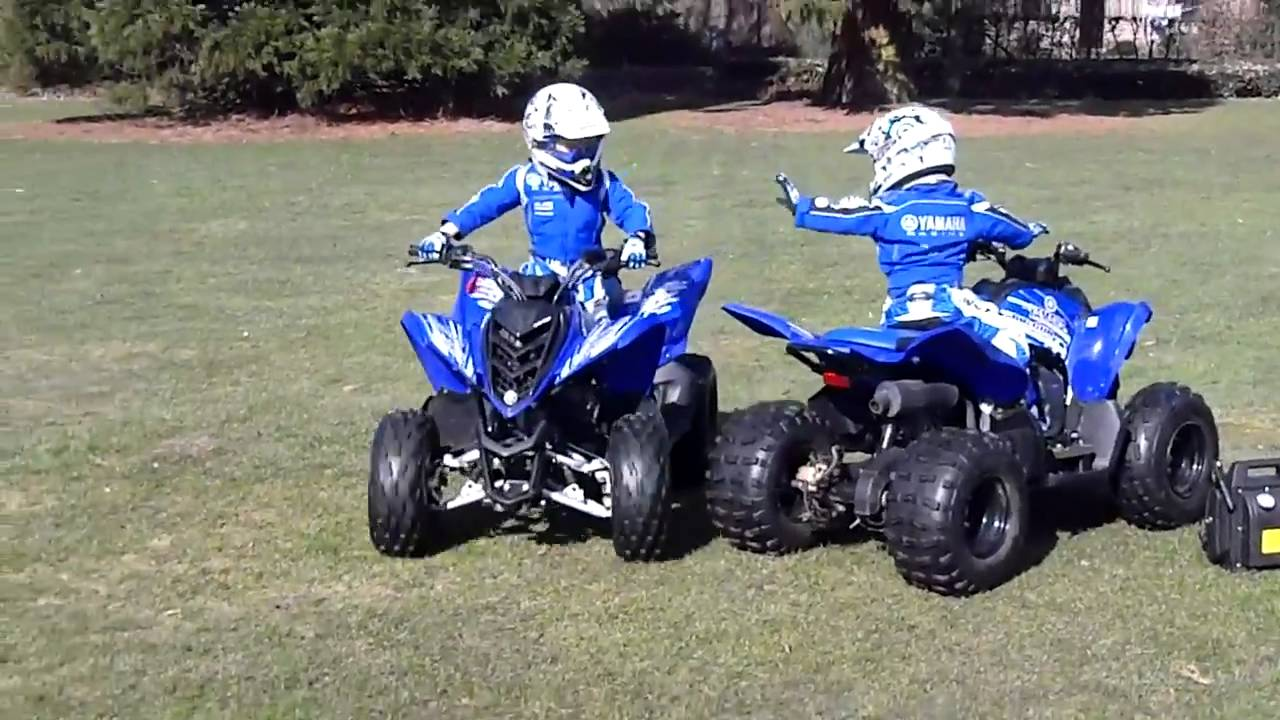Quad Kinderquad Yamaha Raptor Ozzy Amp Ziggy Youtube