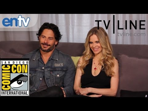 """True Blood"": Joe Manganiello & Kristin Bauer on Sex Scenes, Stripping & More at Comic Con"