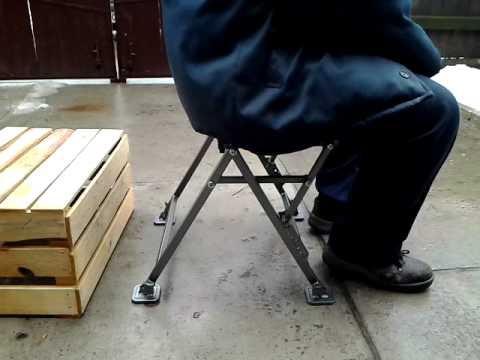 как сделать стул из металла для рыбалки