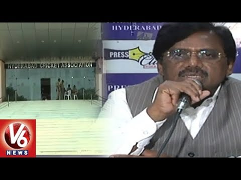 HCA President G Vivek Press Meet On Sheshnarayan Issue And Under 16, 19 Cricket Summer Camps | V6
