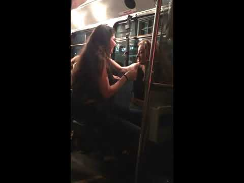 Thots On The Bus; lesbian girls. Chicas se besan salvajemente en el bus en NYC thumbnail