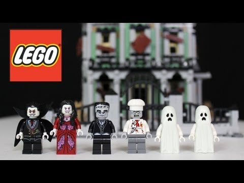 LEGO Haunted House Review. Unboxing. Time Lapse Build Monster Fighters 10228