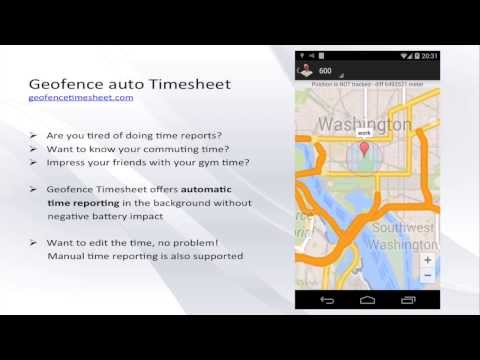 Geofence location Time Tracker screenshot for Android