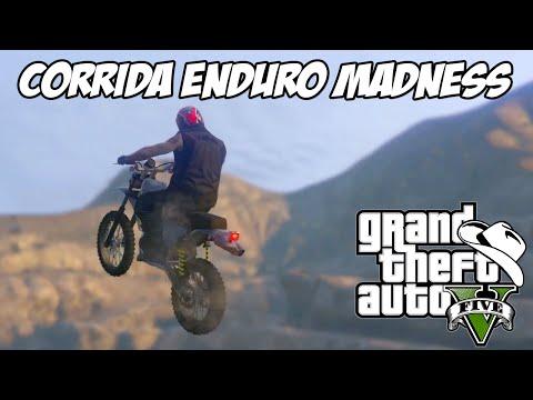 GTA 5 Online (PS4) - Corrida e parkour com a moto nova ENDURO Madness