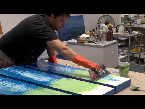 How to Artist Demo Studio Abstract Painting Gloss / Resin Art by Shane Townley