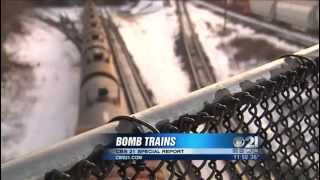 Investigating possibly dangerous trains moving through the midstate