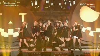 2016 MMA(Melon Music Awards) TWICE CHEER UP+TT