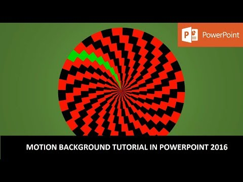 The Spinning Circles | Motion Backgrounds Tutorial in PowerPoint 2016