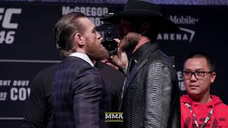 UFC 246: Conor McGregor vs. Donald Cerrone Press Conference Staredown  - MMA Fighting