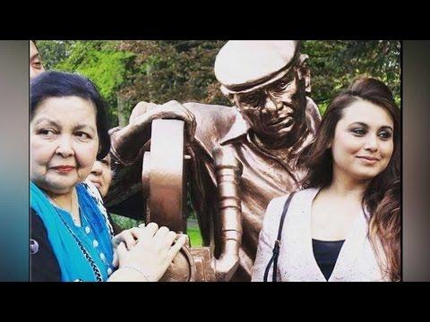 Rani Mukerji spotted near statue of Yash Chopra in Switzerland | Filmibeat