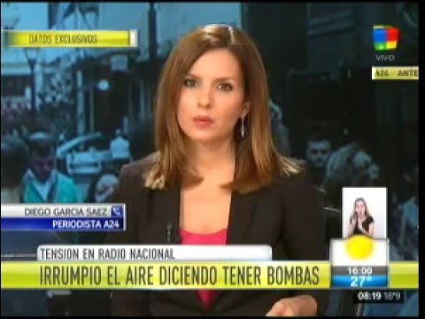 Tensión: amenaza de bomba al aire en Radio Nacional