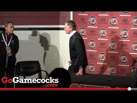 11.1.14. Steve Spurrier speaks after the team's loss to Tennessee on Saturday.