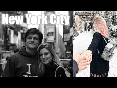 NEW YORK CITY VLOG + PINK HAIR!? | Jaelin and Brianna
